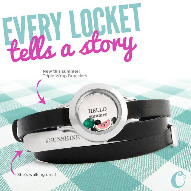 Origami Owl Living Locket Summer Black Triple Wrap Bracelet | Shop StoriedCharms.origamiowl.com