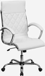 White Leather Chair for Conference Room