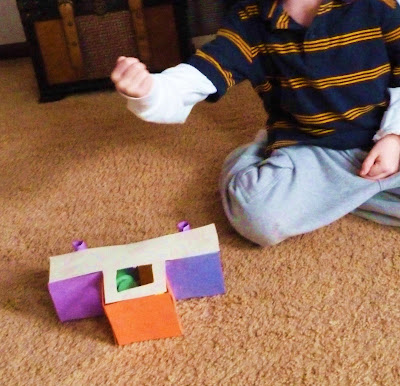 Smashing the Construction Paper Car