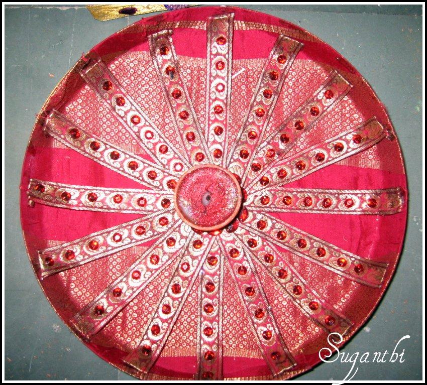 Sparklers arathi thattu for Arathi thattu decoration