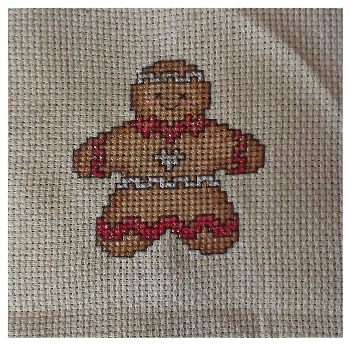 Cross Stitch Crazy Gingerbread-Man