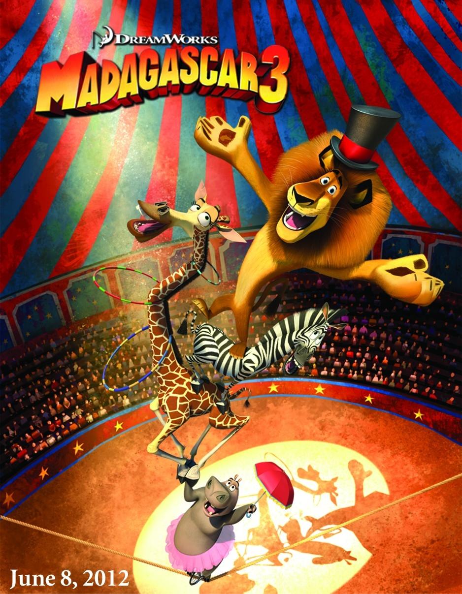 Madagascar 3 : Bons baisers d'Europe affiche