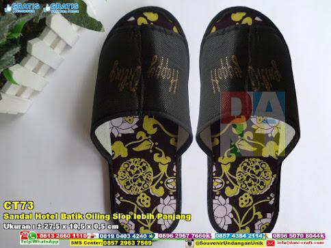 Sandal Hotel Batik Oiling Slop Lebih Panjang | Souvenir ...