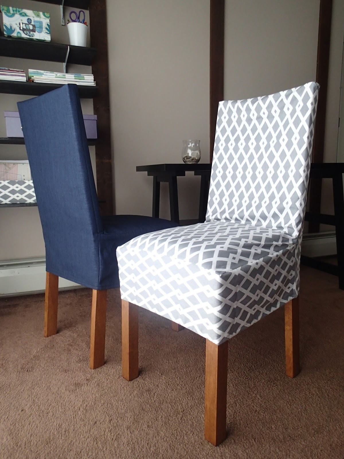 My little girl 39 s dress and more diy how to make a chair for Housse chaise