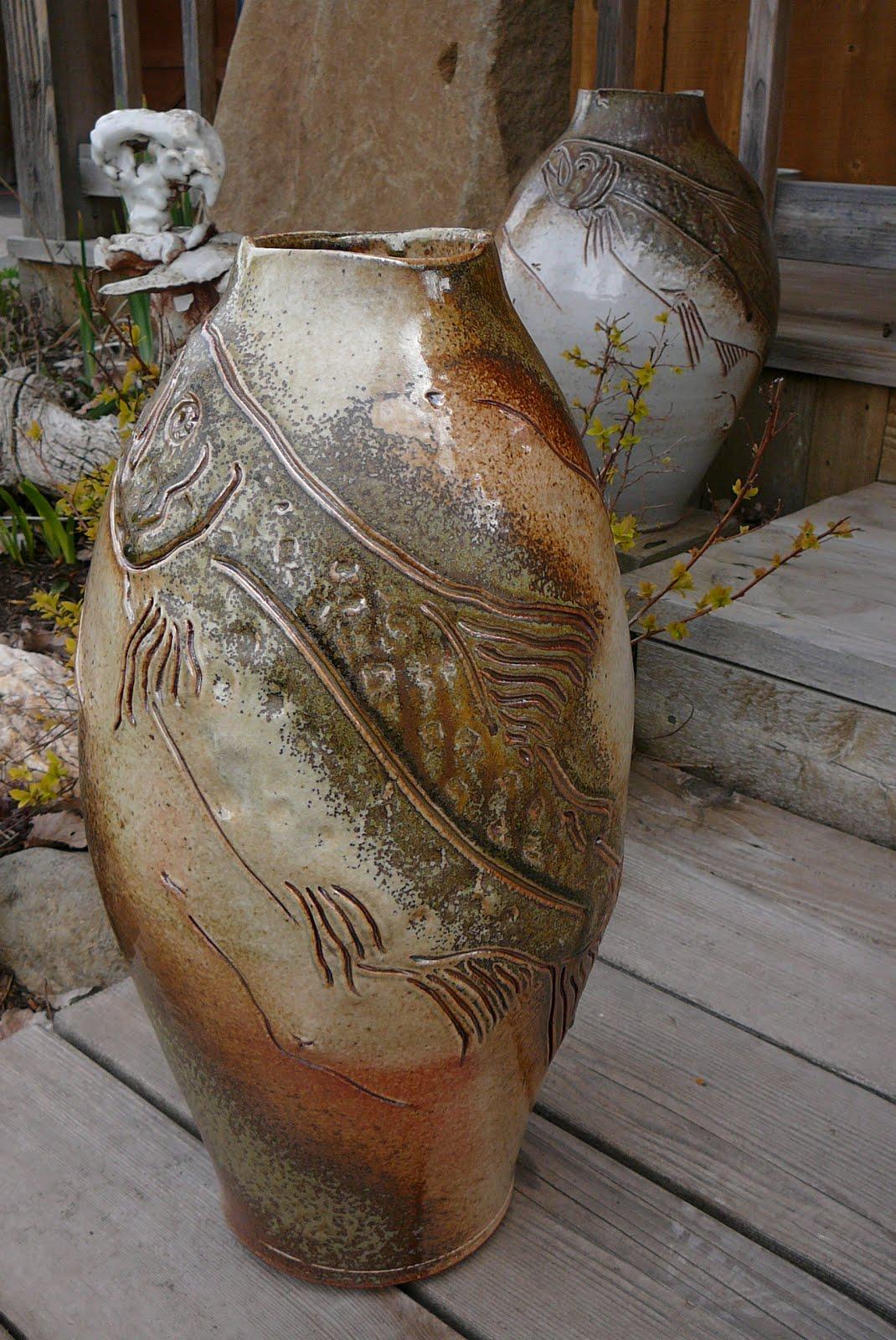 Salmon Vases