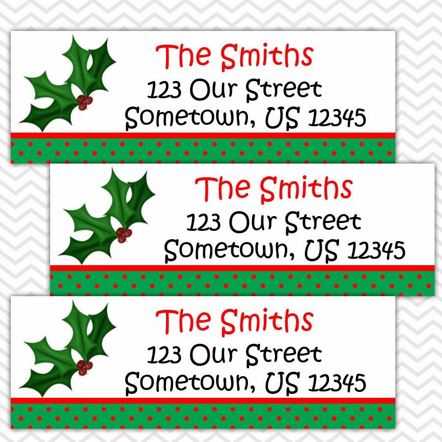 Christmas Address Labels