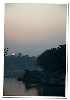 ganges puesta de sol