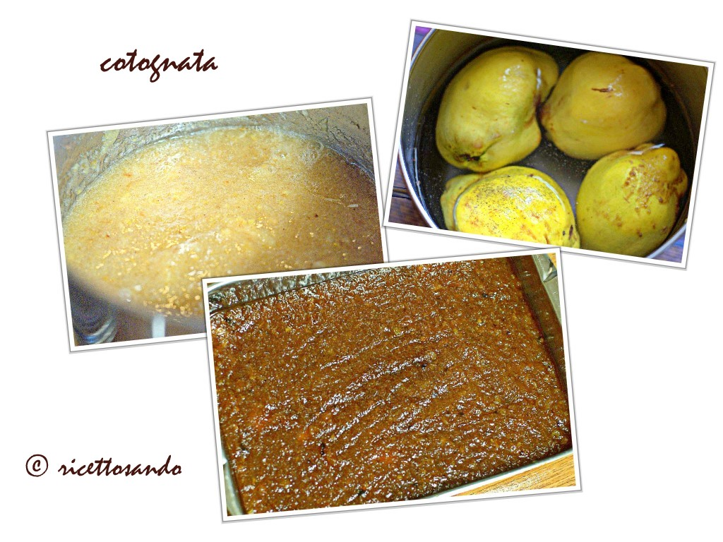 Cotognata e mele cotogne  gelèe di cotogna disponiamo in teglia per solidificare
