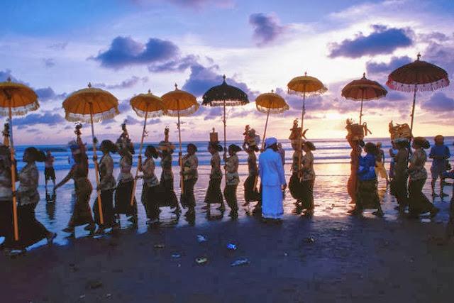 Hindu cultural parade ceremony - Bali, Indonesia