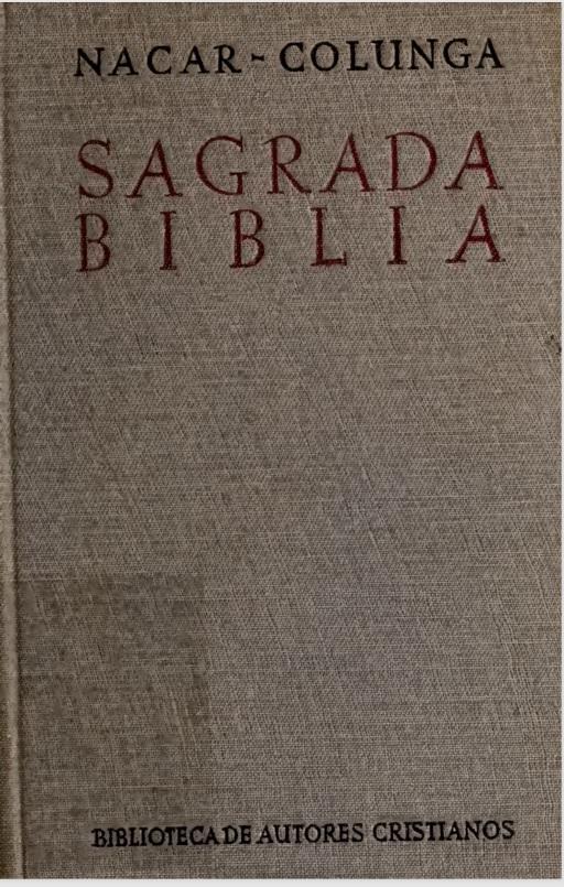 Biblia Nacar-Colunga