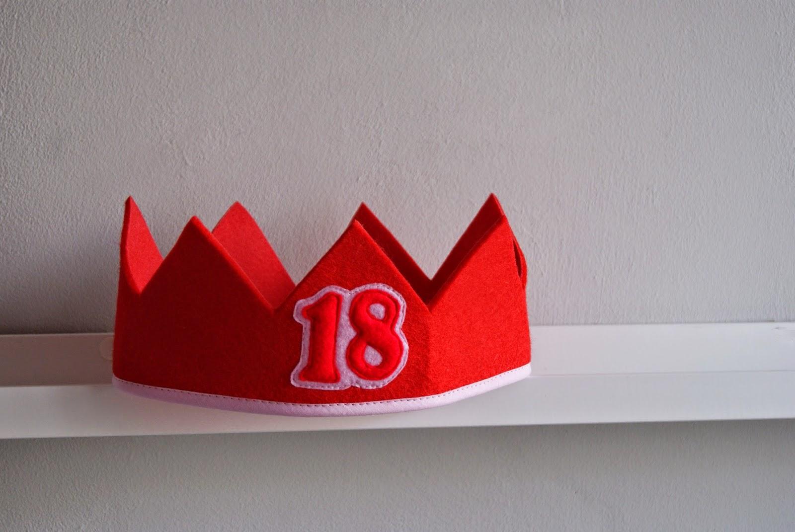 korona urodzinowa na 18 1