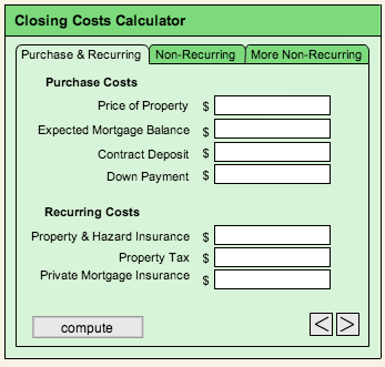 Closing Costs Calculator