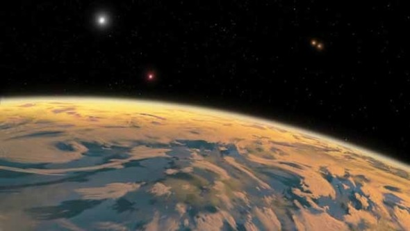 First Planet with FOUR Suns Discovered