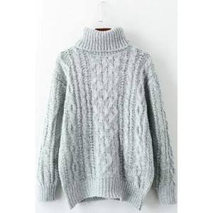 Maykool Grey Cable Knitted Pullover Sweater
