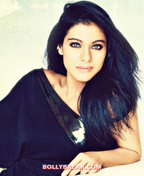 Kajol in black dress - Kajol The Real Beauty