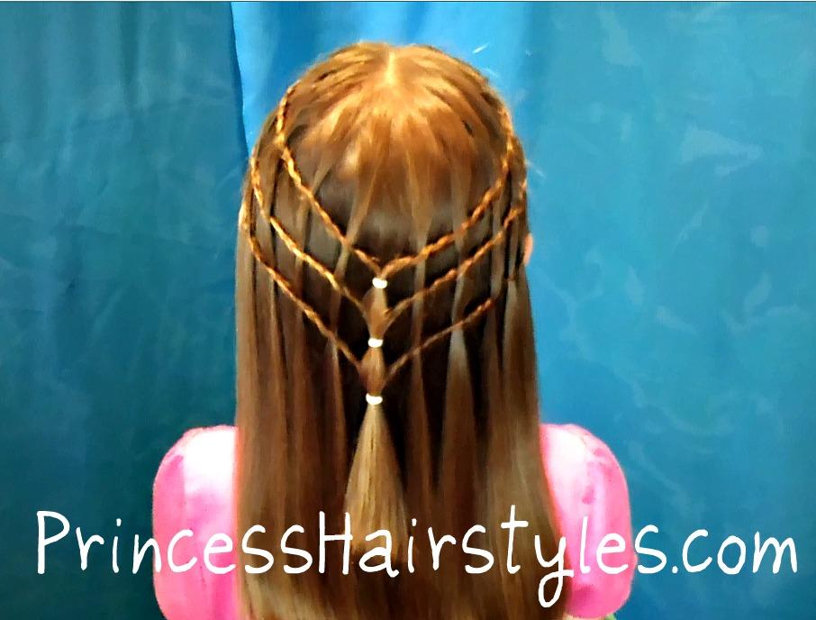 Cute Girls Hairstyles Waterfall Braid