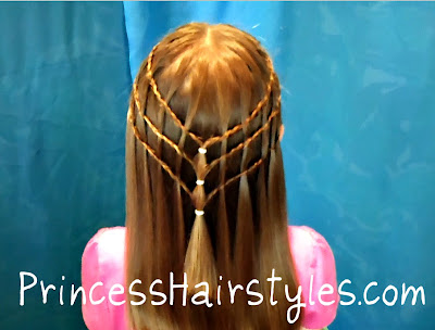 waterfall french braids