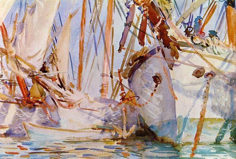 Embarcacions blanques (John Singer Sargent)