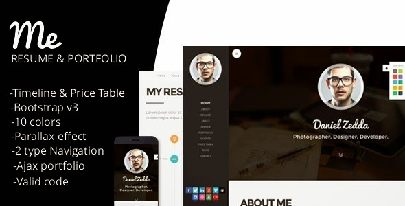 Personal Resume and Portfolio theme