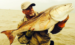 David Fields fishing the Americas Delta Redfish