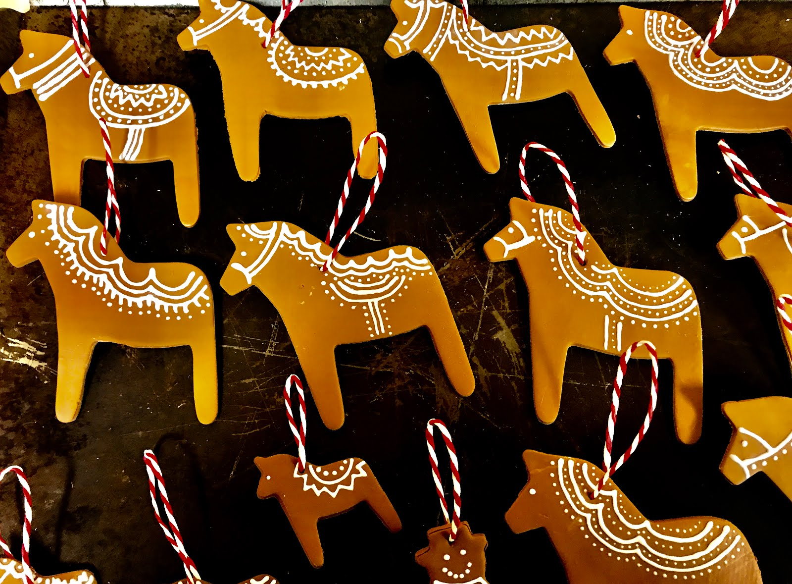 Swedish Dala horse ornaments