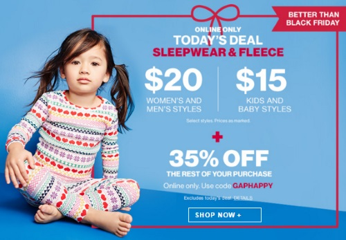 Gap Better Than Black Friday Sleepwear & Fleece