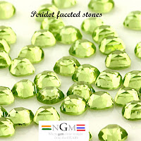 wholesale peridot facated stones
