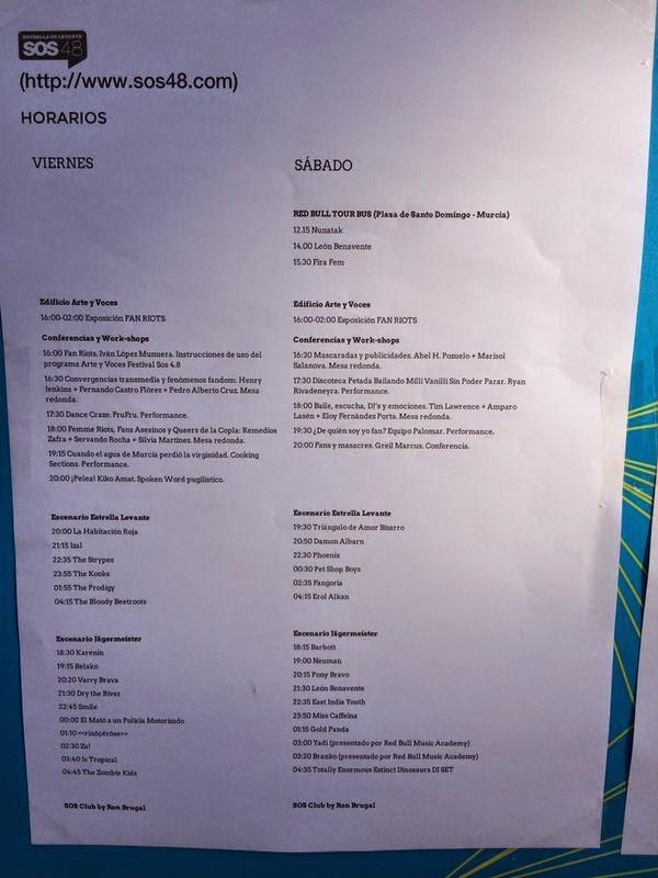 Crónica Festival SOS 4.8 y su VII edición 2014 deja vacías las calles de Murcia