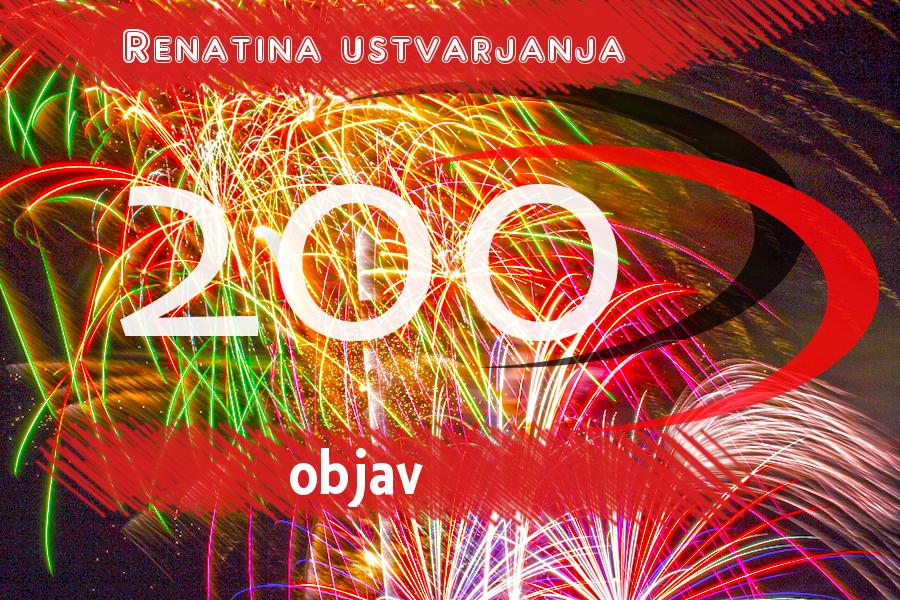 200 objav pri RENATI