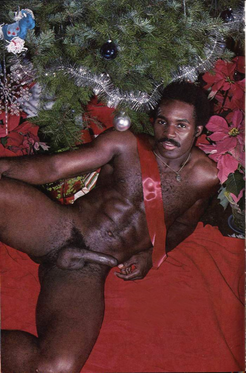 naked men christmas black