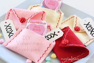 valentine's day felt envelopes for tweens to make