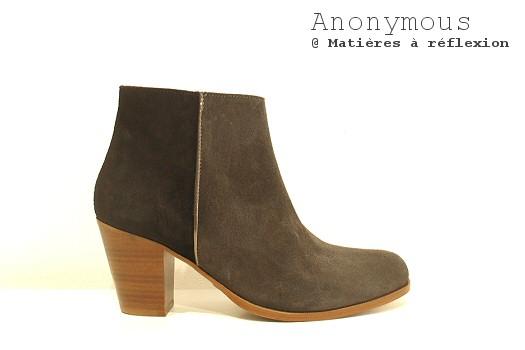 Boots daim bicolores Anonymous copenhagen