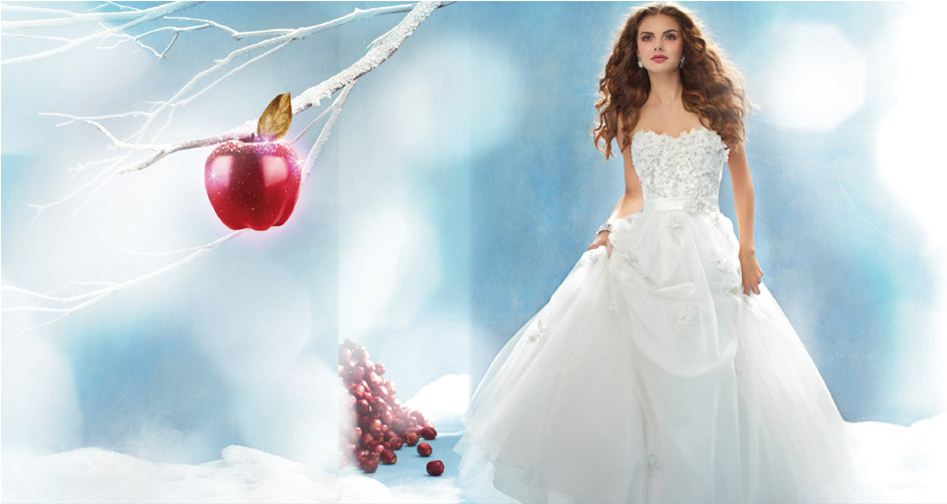 Alfred angelo disney collection for Wedding dress disney collection