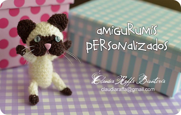 Amigurumis Gato Siames : Claudia raffa bisutería artesanal amigurumis personalizados