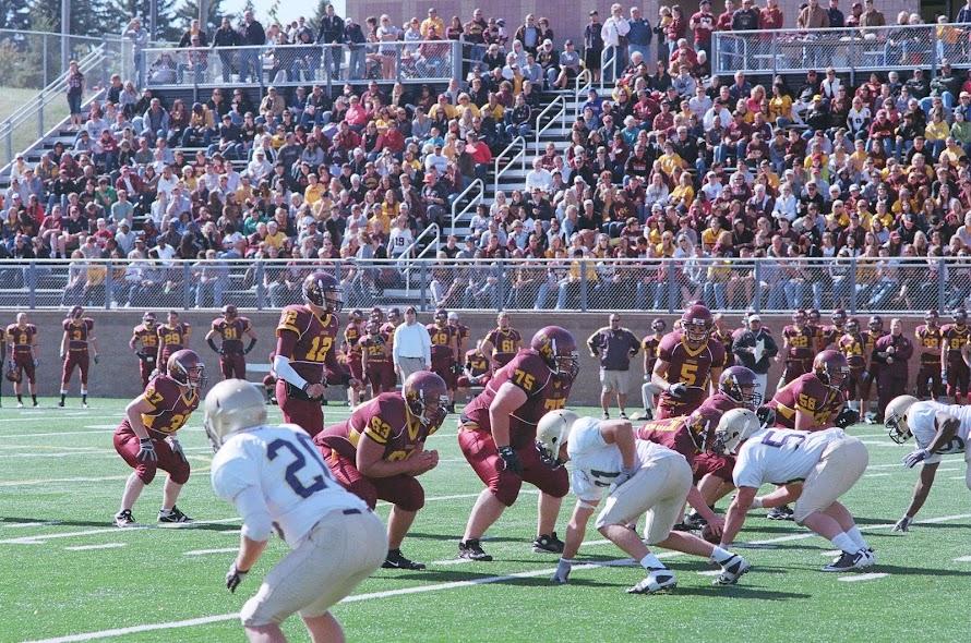 """Hut, hut, hut"" at our Big Cat Stadium, Morris MN"