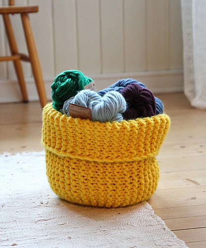 The Knitting Needle And The Damage Done Knitted Baskets You Can