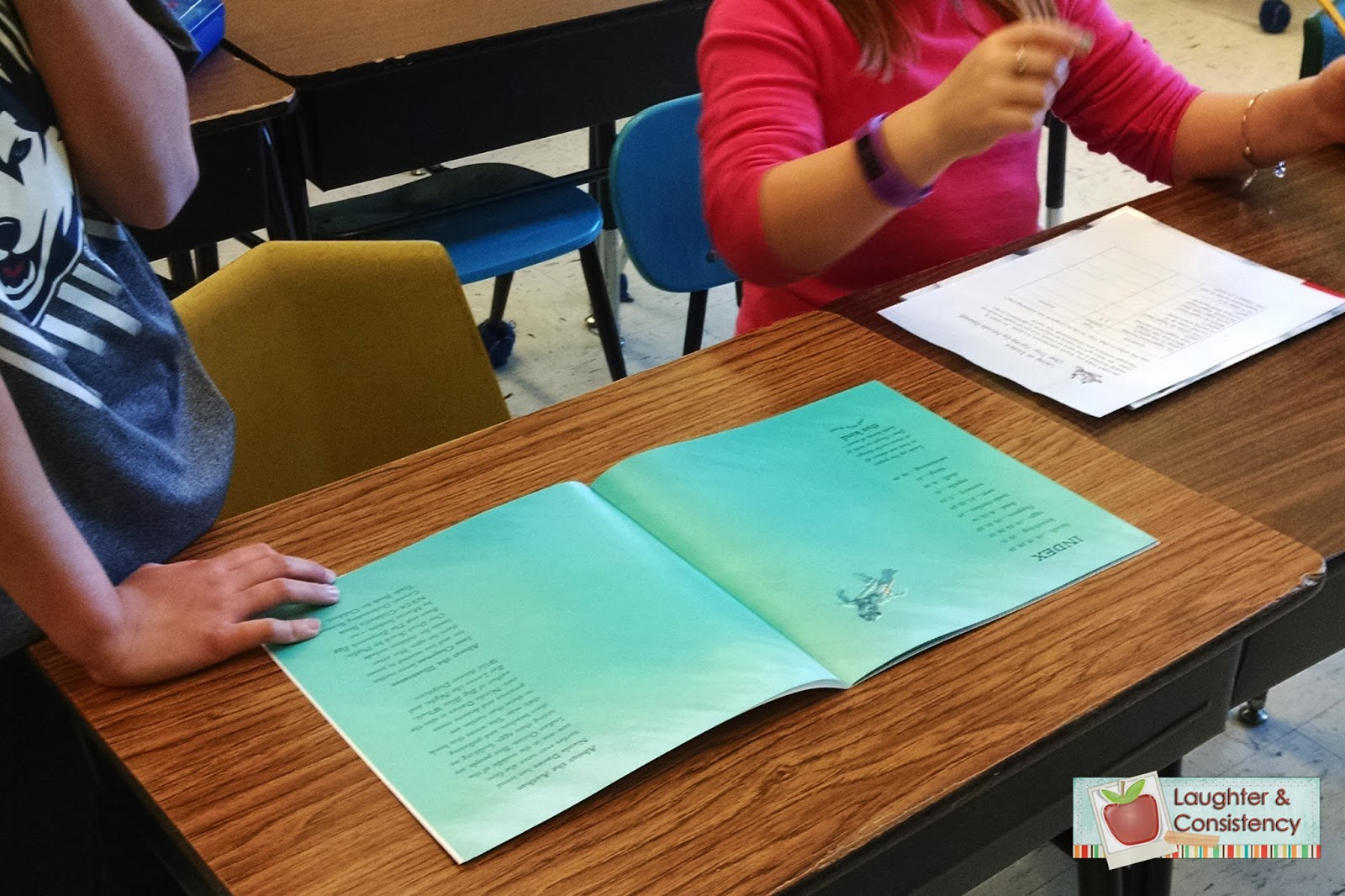 laughter and consistency woven bacon and nonfiction text features