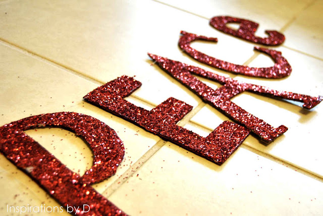 Add Glitter to Letters