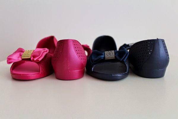 alburnum, baleriny CCC, gumowe baleriny, gumowe baleriny CCC, gumowe buty, różowe i granatowe baleriny, stylizacje alburnum,