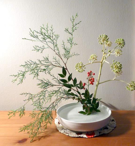 Ikebana 1 White Basin