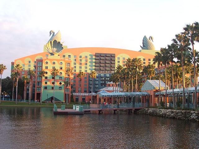 Futuristic Architecture Art Deco Michael Graves Disney Swan Hotel