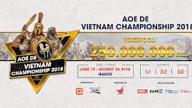 AoE DE: Vietnam Championship 2018: Cập nhật danh sách đăng ký nội dung 2v2 Online