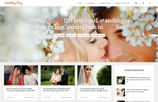 wedding mag responsive white love blogger template 2014 for blogger templates