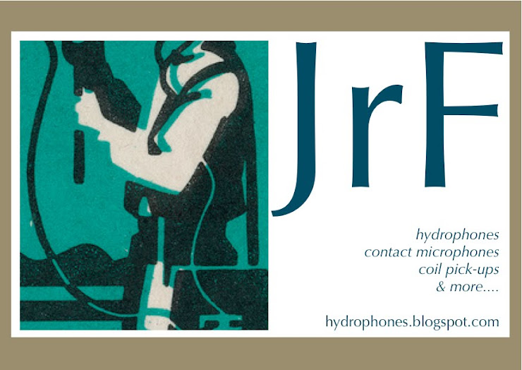 hydrophones and contact microphones - hand made in yorkshire by JrF