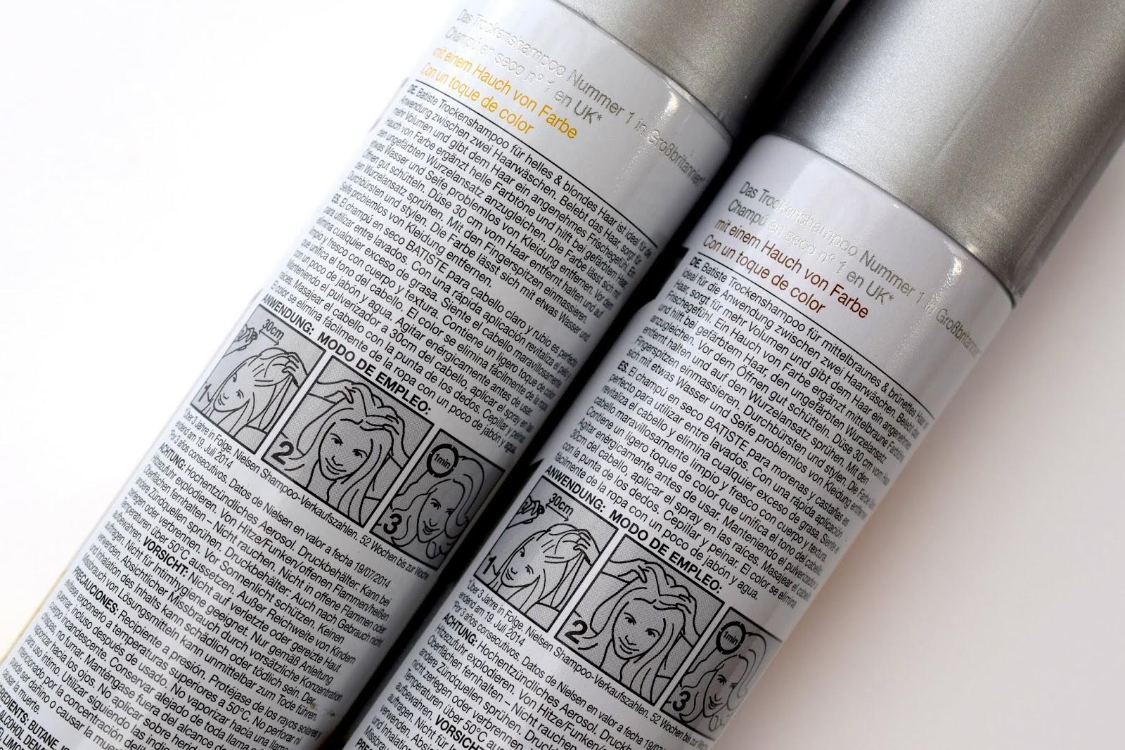 Anwendung Batiste Hint of Colour Dry Shampoo