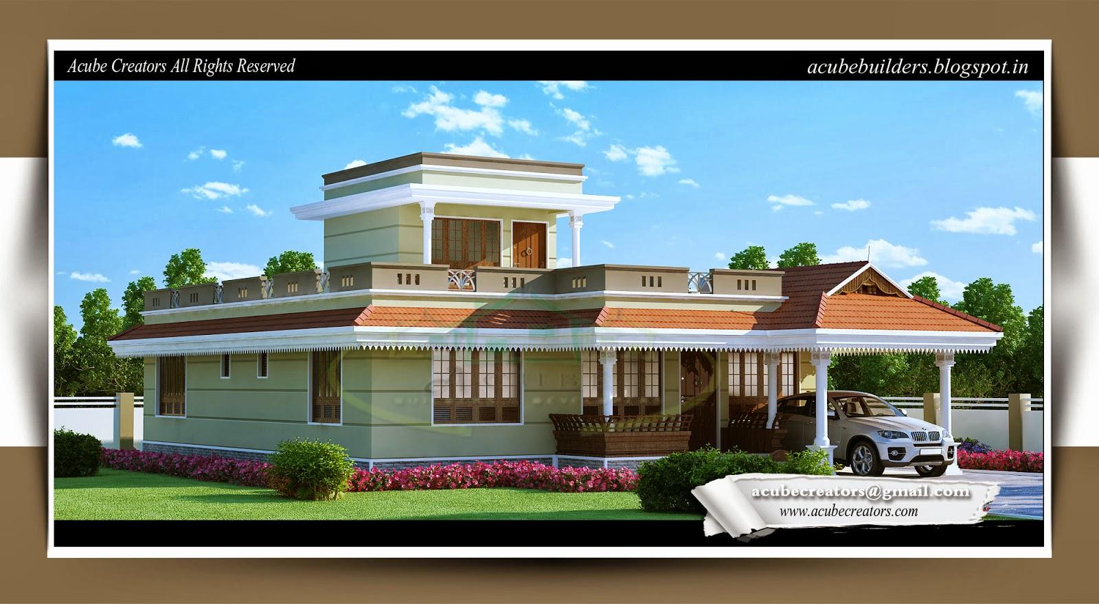 Single story kerala home design plan 175 for Single story house plans kerala style