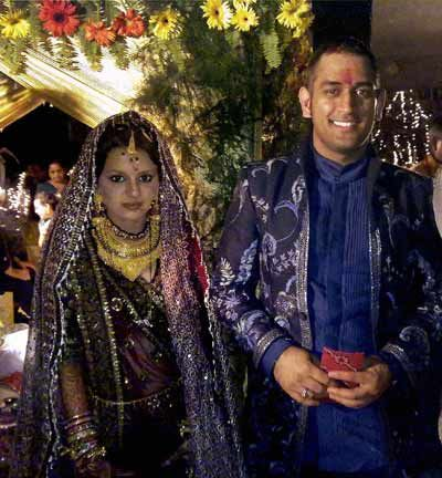 MS Dhoni Wedding Images