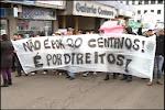 Protesto em Cruz Alta