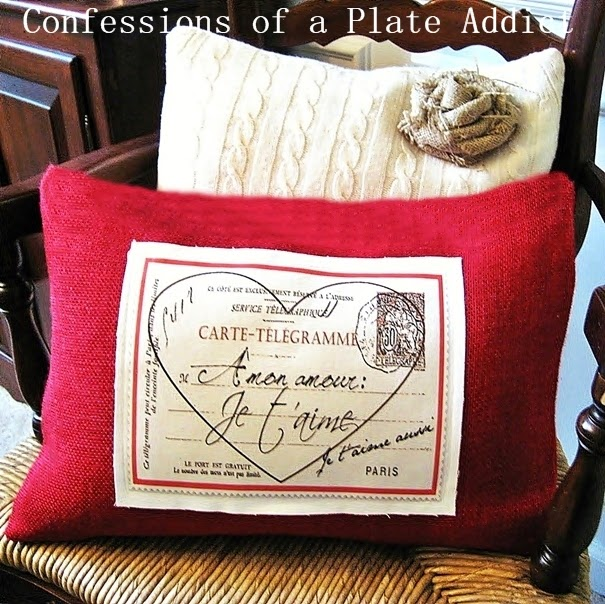 Pottery Barn Inspired French Valentine Pillow