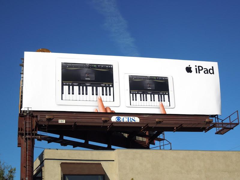 Apple iPads piano billboard